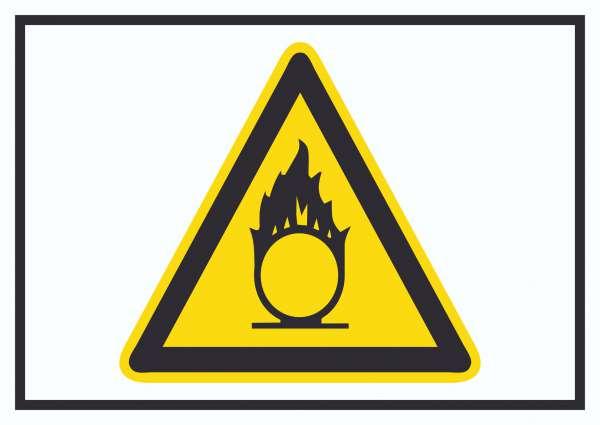 Vorsicht Brandfördernde Stoffe Symbol Schild
