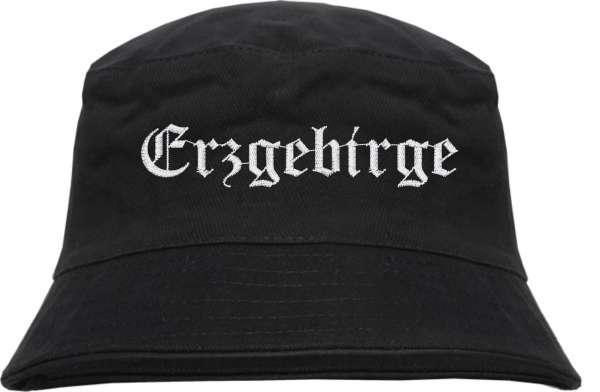 Erzgebirge Fischerhut - Altdeutsch - bestickt - Bucket Hat Anglerhut Hut