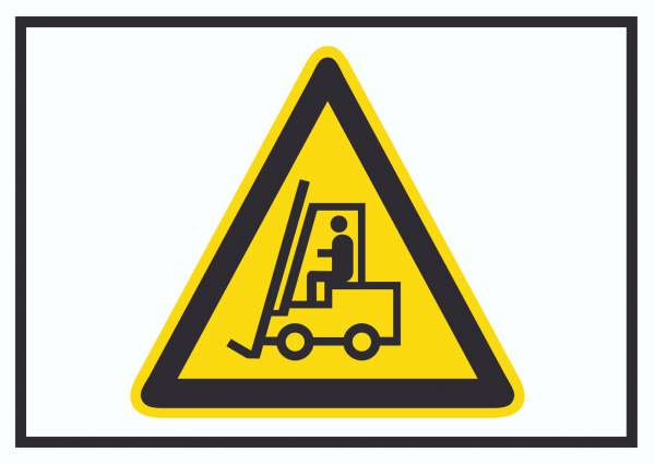 Vorsicht Flurförderfahrzeuge Symbol Schild