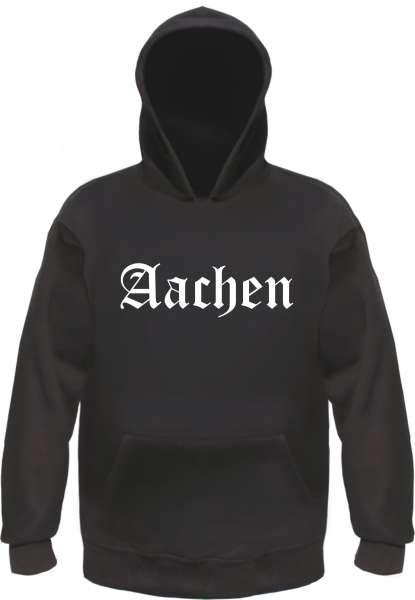 Aachen Kapuzensweatshirt - Altdeutsch bedruckt - Hoodie Kapuzenpullover