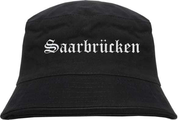 Saarbrücken Fischerhut - Altdeutsch - bestickt - Bucket Hat Anglerhut Hut Anglerhut Hut