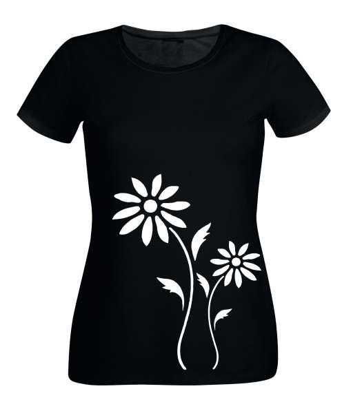 BLUMEN Damen T-Shirt - Florals -